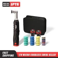 SPTA 12V Micro Cordless Swirl Killer Mini lucidatrice per auto a doppia azione RO/DA per lucidatura, levigatura e pulizia