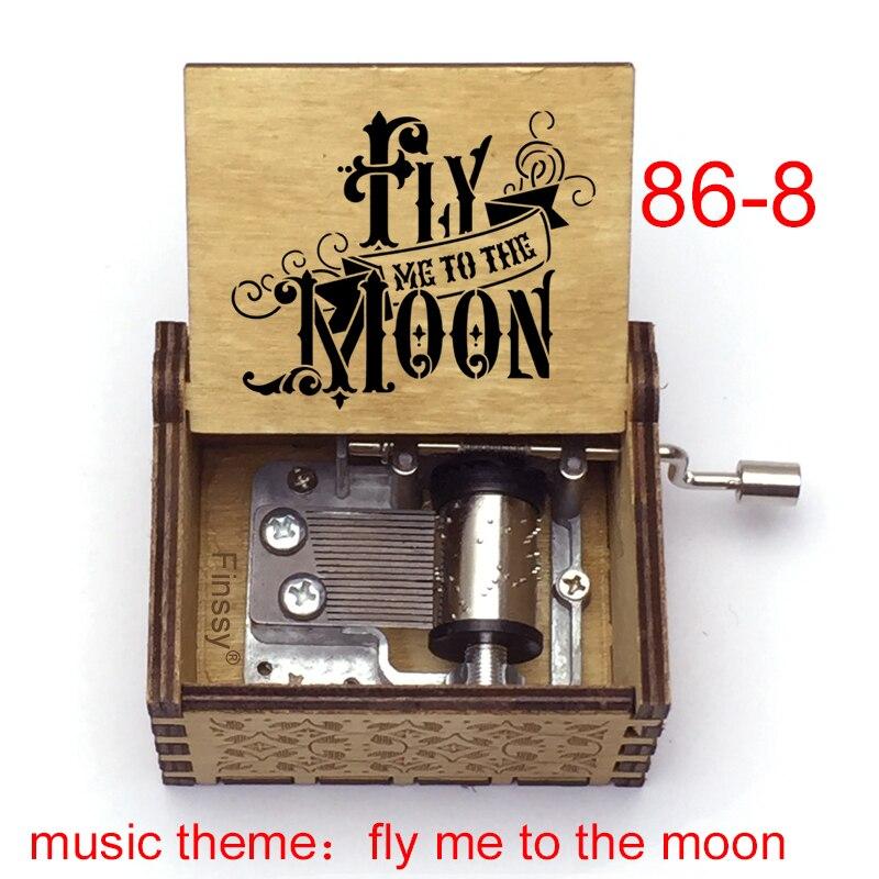 Ручная музыкальная шкатулка, музыкальная шкатулка «fly me to the moon», домашний декор для жены, подруги, подарки на Хэллоуин, Рождество, Новый год