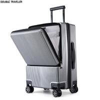 2021 neue Reise gepäck mit Micro USB,trolley gepäck fall mit laptop tasche, männer Business Trolley PC Box fall, roll gepäck