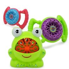 Перекрестная граница полностью автоматическая машина для пузырей игрушки лягушка Bubbler детские электрические выдувные пузырьки с пузырьковой водой оптом