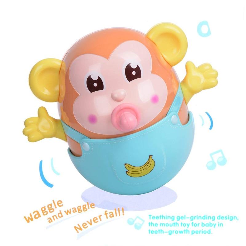 0-12 Months Little Monkey Tumbler Toys Lol Dolls Amphibious Floating Cartoon Animation Fun Children's Toys Baby Toys