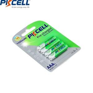 Image 3 - Baterias recarregáveis aaa da descarga do auto das baterias até to1200ciclo baterias recarregáveis do aaa da bateria de 12 pces pkcell 1.2v aaa 1000mah ni mh