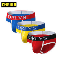 3Pcs/lot 2020 New Breathable Sexy Undenwear Men Jockstrap Briefs Men's lingerieB