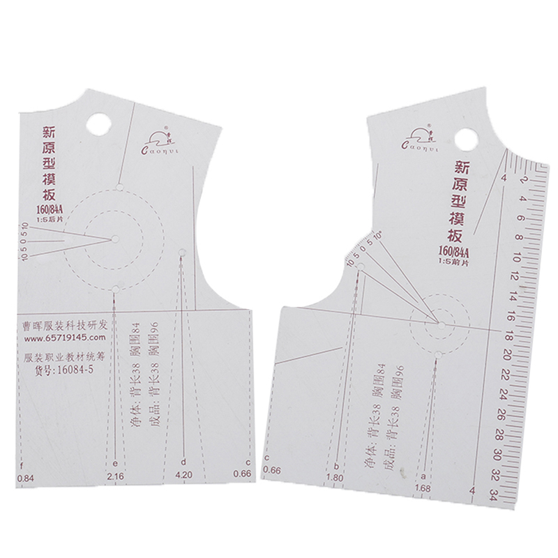 DIY Handmade Crafts 1:5 Women Clothes Prototype Ruler Drawing Templete Tools Tailor Sewing Accessories
