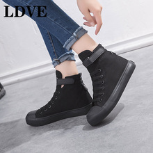 2019 New Canvas Shoes Women Boots Palladium Style Fashion High-top Military Ankle Casual Shoes Female High Quality Boots new palladium fashion style high top tactical military boots man and woman outdoor travel hiking boots comfortable canvas shoe