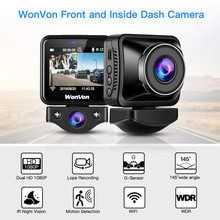 WonVon M5B 車のダッシュカメラ 145 ° 液晶 2.0MP ソニー IMX307 赤外線ナイトビジョン WiFi ダッシュカム HD 1080P デュアル DVR G センサーループ Recorrding