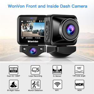 Image 1 - WonVon M5B Car Dash Camera 145° LCD 2.0MP Sony IMX307 IR Night Vision WiFi Dash Cam HD 1080P Dual DVR G Sensor Loop Recorrding