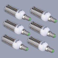 ICOCO 6Pcs LED Light Corn Bulb Lamps E14 220V 240V 9W 72LED SMD4014 Cool/Warm White Light Corn Bulb Lamp