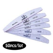 50 teile/los 80 100 180 Nagel Dateien Für Maniküre Grau Starke Schleifpapier Nägel Accessorizes Werkzeuge Professionelle Nails art Pflege Werkzeuge