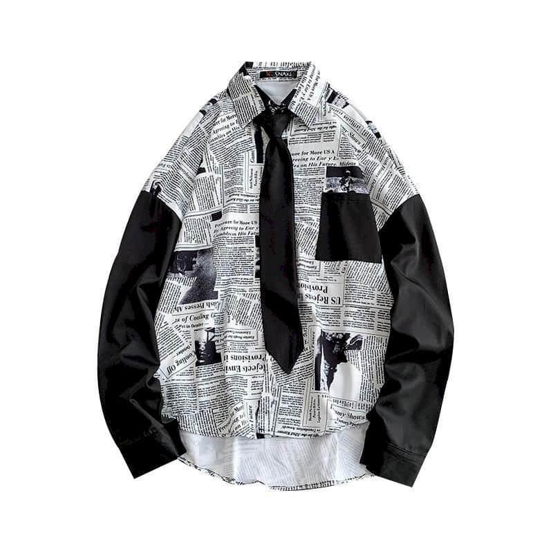 Уличная рубашка, женские блузки, корейский Свободный Топ в стиле бойфренда для мужчин и девушек, для студентов, модный универсальный топ в г...