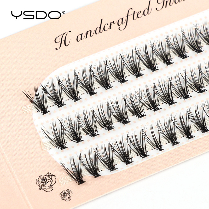 YSDO 60 Bundles Mink Eyelash Extension Natural Volume False Eyelashes Individual 10/20/30D Cluster Lashes Makeup Lashes Bunche 1