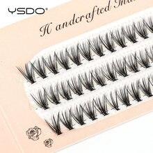 YSDO-extensiones de pestaña de visón, 60 mechones, volumen Natural, pestañas postizas individuales, 10/20/30D, maquillaje