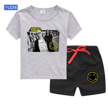 цена на boys Clothing Set Kids Clothes Sport Suits Summer 2020 Girl Outfit Children Clothing Set Toddler baby set Kurt Hip Hop Suit cool