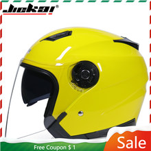 Alta qualidade capacetes da motocicleta capacete de bicicleta elétrica rosto aberto dupla lente viseiras das mulheres dos homens verão scooter moto capacete dot
