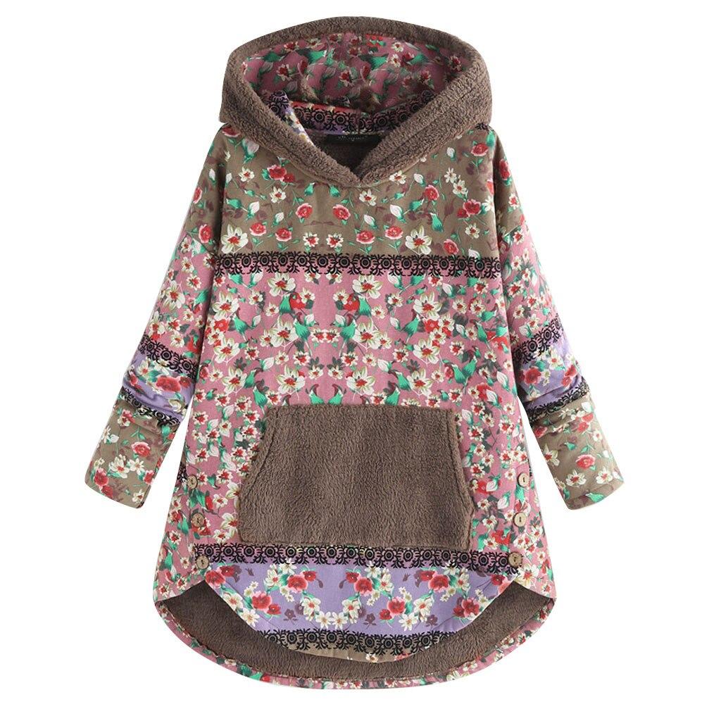 Hd37a4fe6c15b42eaae4c6d66b2a1a456J Female Jacket Plush Coat Womens Windbreaker Winter Warm Outwear Retro Print Hooded Pockets Vintage Oversize Coats Plus Size 5XL
