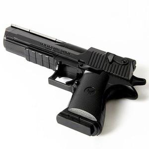 Image 2 - DIY Assembling Building Block Gun Toys Pistol Rifle Children Plastic 3D Miniature Gun Model For Boys CS Games Educational Toy