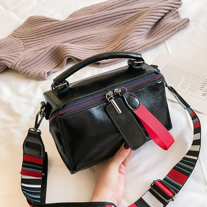 New Large Capacity Luxury Handbags Women Bags Double Zipper Solid Color Women Hot Sale Bag Vintage Ladies Shoulder Bags