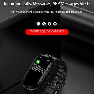 Image 4 - Kebidu M1 Nieuwste Ai Smart Horloge Met Bluetooth Hoofdtelefoon Bloeddruk Hartslagmeter Smart Polsband Voor Ios Android