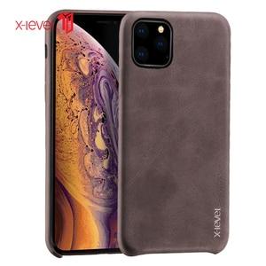 Image 2 - Voor Iphone 11 Pro Max 2019 Case Luxe Vintage Leather Cover Case Voor Iphone 11 Pro 6.1 Terug Case Brown X Niveau