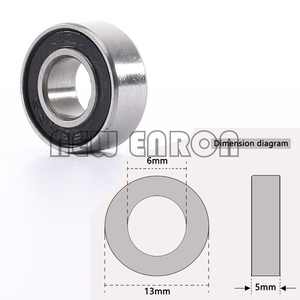 Image 3 - NEW ENRON Blue Ball Bearing 33PCS KIT Metric Rubber Sealed on Two Sides RC Car  FOR Traxxas E Revo Racing 52100 Chrome Steel