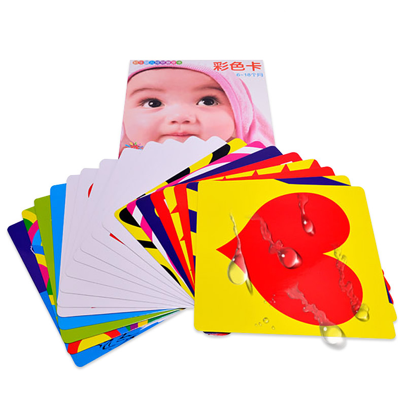 New 21x21cm Color Cards For Preschool Educational Baby Kids Double-sided Visual Training Card Animal Cards 6-18 Months