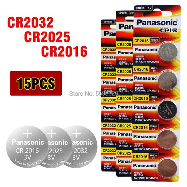PANASONIC 15 Uds original de la marca nueva batería para 3v cr2032 cr 2025 cr2016 pila de botón baterías para ver la computadora