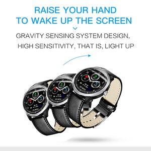 Image 4 - LIGE reloj inteligente deportivo de hombre, reloj inteligente deportivo con control del ritmo cardíaco y de la presión sanguínea, y pantalla OLED