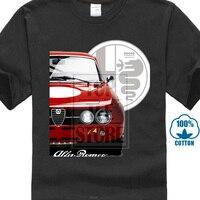 Новинка, Alfa Romeo, футболка на заказ для мужчин и с круглым вырезом, уникальный дизайн, модная футболка с автомобилем, уличная футболка, Camiseta ...