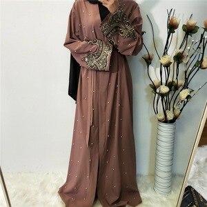 Dubai Open Abaya Muslim Women Hijab Dress Turkey Kaftan Kimono Jilbab Islamic Clothing Ramadan Eid Abayas Caftan Robe Party Gown