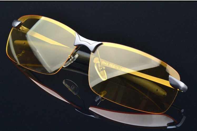 M4 موضة الاستقطاب النظارات الشمسية نظارات الرؤية الليلية الرجال سيارة نظارات للقيادة مكافحة وهج سبائك الفضة إطار نظارات