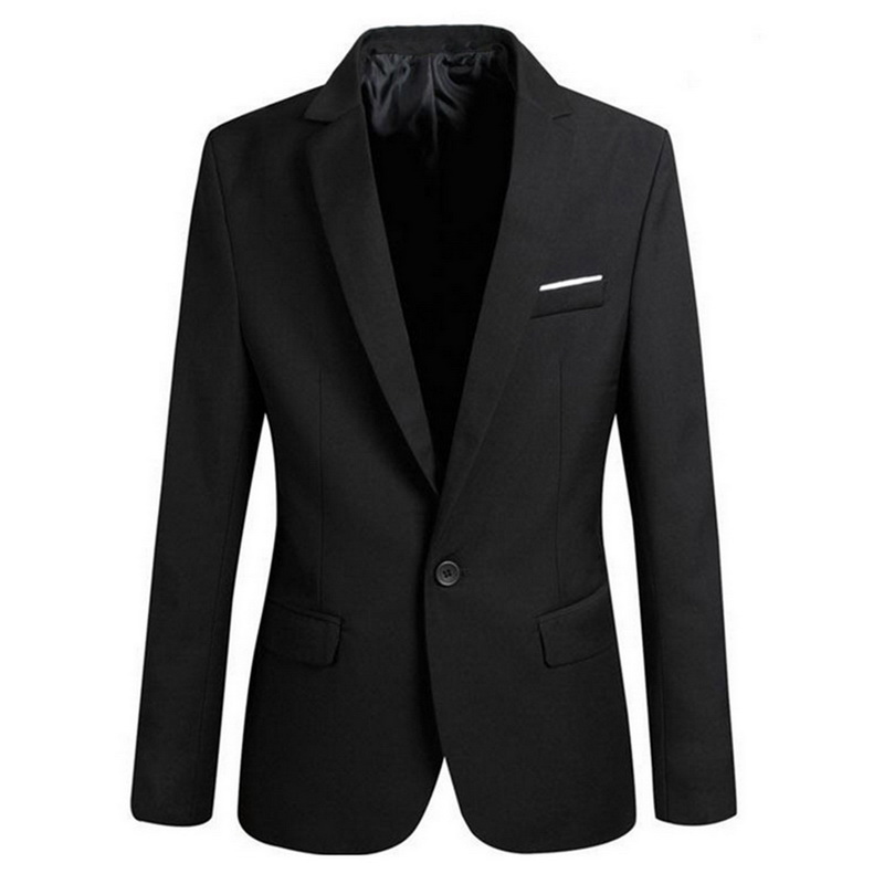 Men's Autumn Winter Men's Solid Color Suit Jacket Casual Slim Fit One-button Blazers For Men Blazer 2020 Plus Size