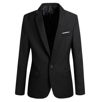 Men's Autumn Winter Men's Solid Color Suit Jacket Casual Slim Fit One-button Blazers For Men Blazer 2020 Plus Size