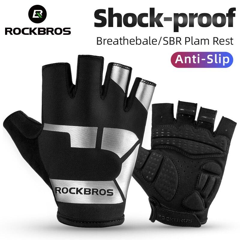 ROCKBROS противоскользящие велосипедные перчатки амортизирующие дышащие велосипедные перчатки удобные модные спортивные перчатки с принтом ...