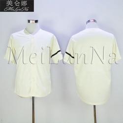Camisetas estilo retro con bordado de secado rápido y crema de béisbol de la espalda de la vendimia de zorro de John Morgan