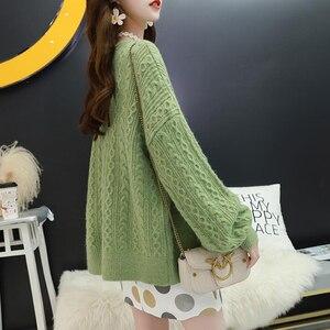Image 2 - Surmiitro A Manica Lunga Cardigan Donna 2019 Casual Signore Coreane di Inverno Maglione Lavorato A Maglia Tricot Cappotto Giacca Femminile