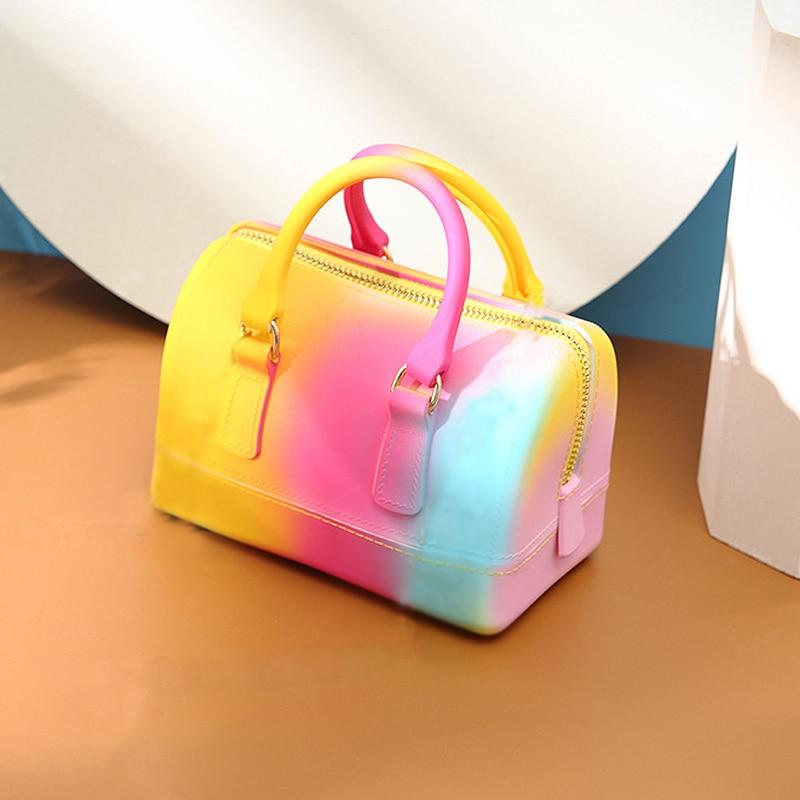 rainbow jelly bag bags for women 2020 summer new purses and handbags luxury bags famous brand designer mini bag crossbody bags|Сумки с ручками|   | АлиЭкспресс