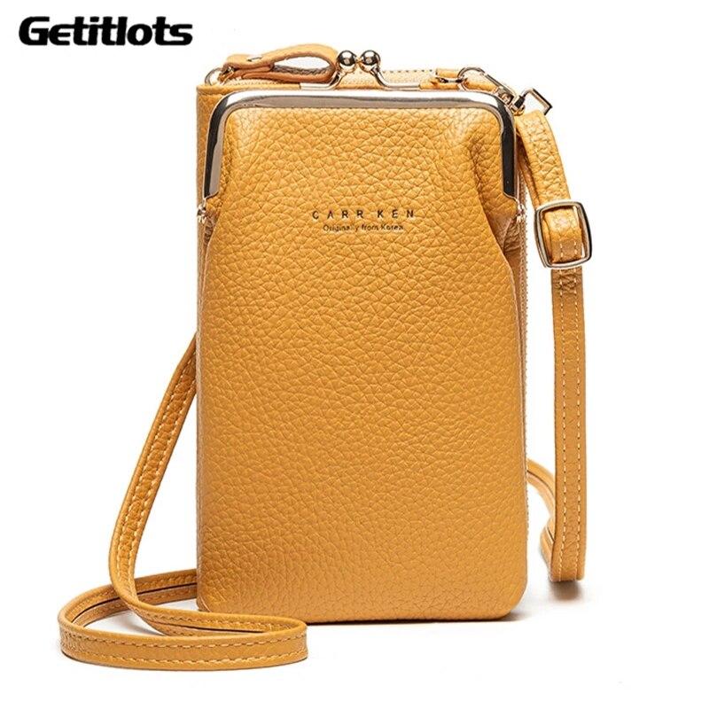 2021 Women Small Crossbody Bags Fashion Mini PU Leather Design Shoulder Messenger Bag For Girls Yellow Bolsas Ladies Phone Purse