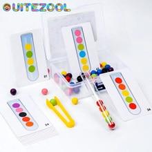 Clip Beads Test Tube Educational Toys Children Hand Fine Motor Training Color Sorter Boxed Test Tube Clip Beads Game Sorter Toy