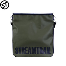 Stream Trail Waterproof Outdoor SD Flat Bag Shoulder Dry Sack Water Resistant Magnetic Button Closure City Urban Office Daypack cheap streamtrail