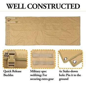 Tactical Roll-Up Shooting Mat Waterproof Lightweight Nylon Cloth Outdoor Hunting Molle Non-padded Mat for Rifle Gun Shotgun 5