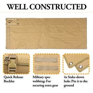 Image 5 - Tactical Roll Up Shooting Mat Waterproof Lightweight Nylon Cloth Outdoor Hunting Molle Non padded Mat for Rifle Gun Shotgun
