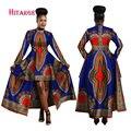 Платья Hitarget для женщин  модель 2020 года  длинное платье из хлопка с вощеным принтом в стиле Дашики  модель WY1268