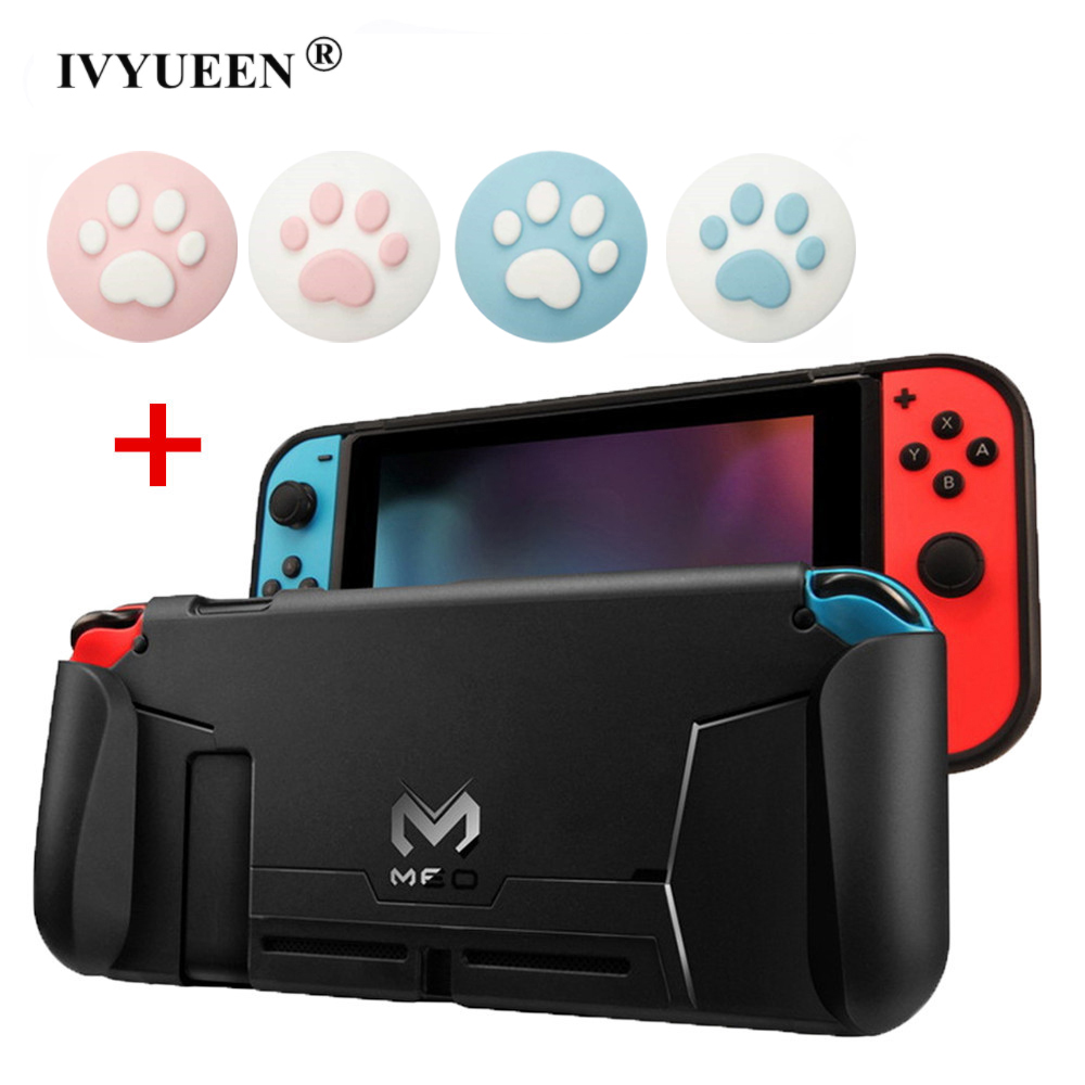 IVYUEEN Soft Protective Case Shell for Nintend Switch NS Console Handle Grip Cover with Shock-Absorption and Anti-Scratch Design(China)