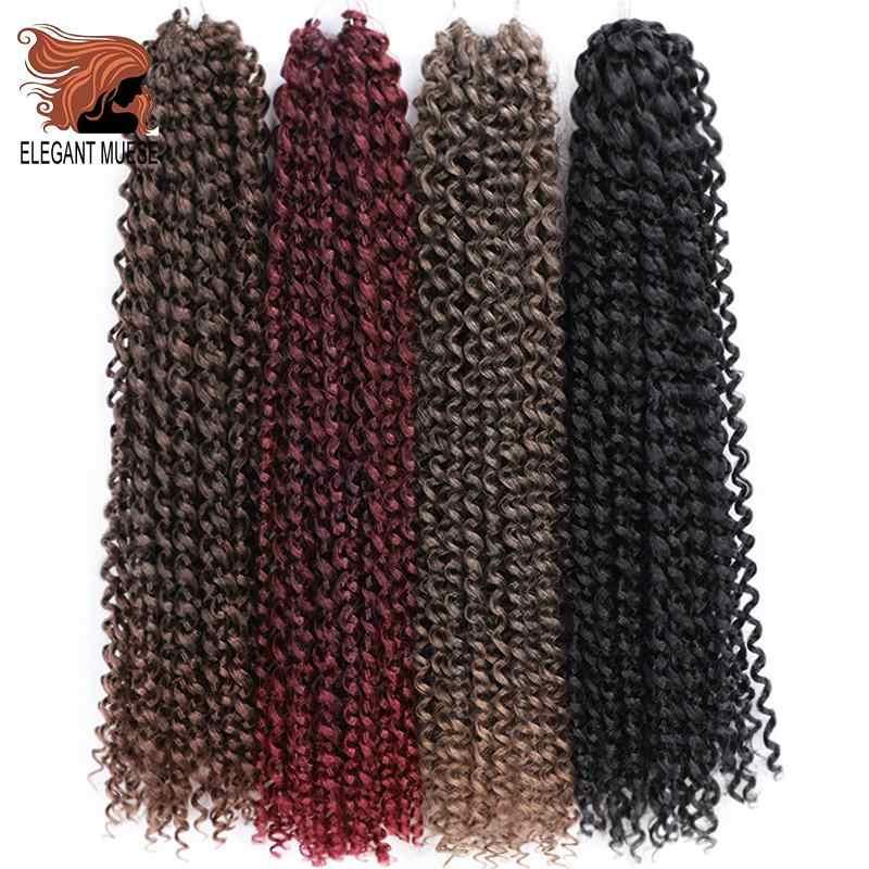 Страсть твист крючком волосы афро кудрявые вьющиеся 18 дюймов длинные богемные крючком синтетические плетеные страсть твист натуральные накладные волосы