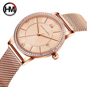 Image 2 - Sophisticated Elegant Diamond High Quality Ultra thin Women Stainless Steel Mesh Waterproof Ladies Women Watch Dropshipping