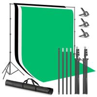 Neewer Photo Studio 8.5x9.8ft/2.6x3M Backdrop Stand Backdrop Support System with 6x9ft/1.8x2.8M Polyester Backdrop