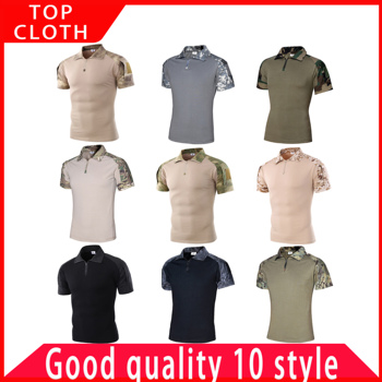 Outdoor Camouflage  Militar POLO Shirt US Army Jungle Desert Airforce Breathable Sweat Hunting Training Tactical Set SWAT Cloth
