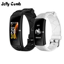 Gelee Kamm Sport Smart Uhr Frauen Männer FitnessTracker Smartwatch für Android IOS Herz Rate Monitor Elektronik Smartband
