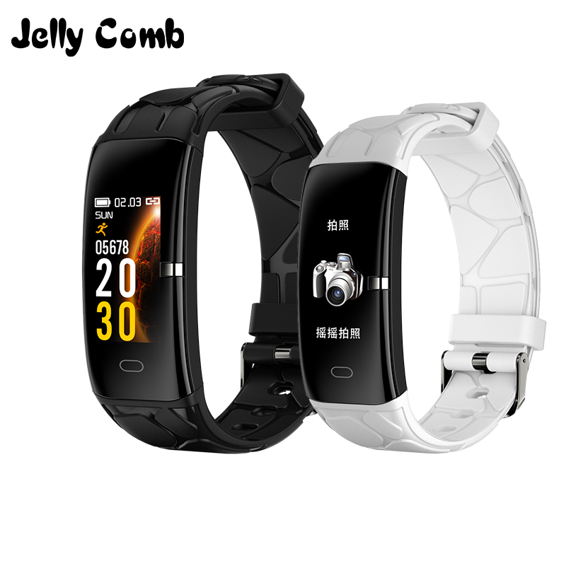Jelly Comb Sport Smart Watch Women Men FitnessTracker Smartwatch for Android IOS Heart Rate Monitor Electronics Smartband