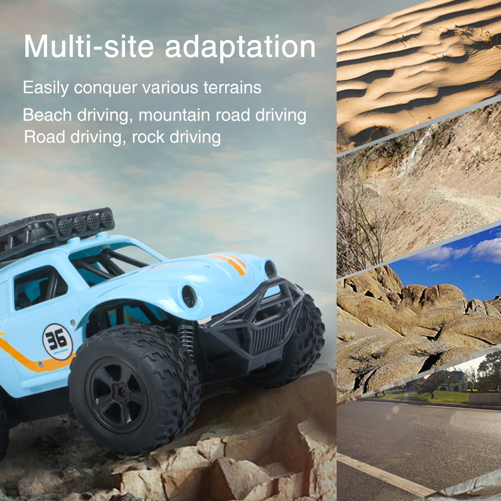 2.4G Kids Toy Portable Electric DIY RC Car Gift Alloy Off Road Vehicle Simulation Beetles Model Remote Control High Speed image